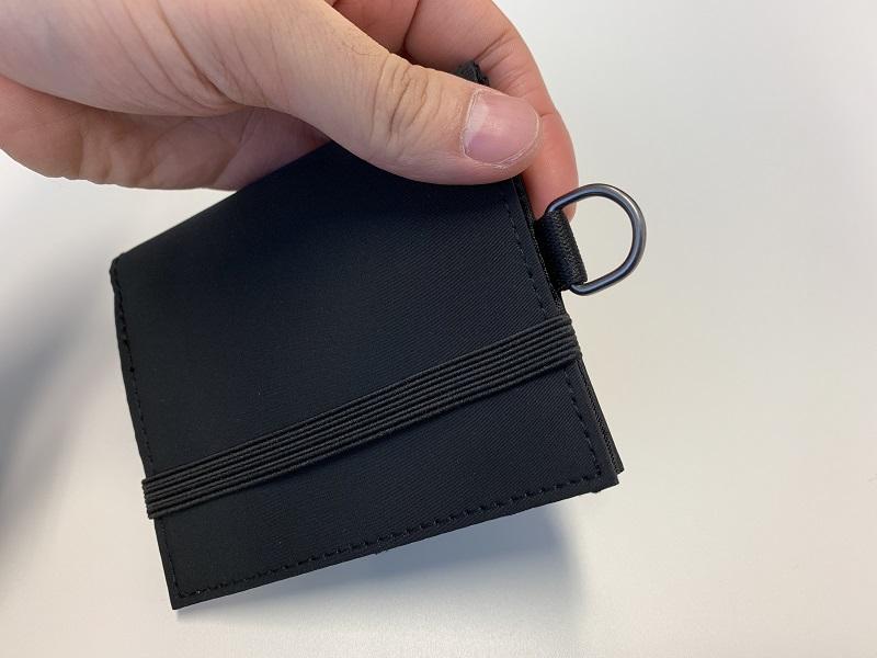 無印の旅行用財布のストラップの説明